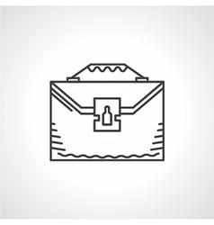 Black line icon for briefcase vector image vector image