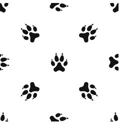 cat paw pattern seamless black vector image vector image