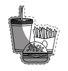 hamburger french fries and soda fast food vector image