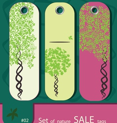 price tags with tree vector image vector image