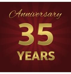 35 years anniversary vector image vector image