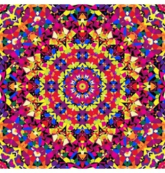 bright kaleidoscope pattern vector image vector image