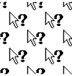 Seamless pattern of arrows and question marks vector image vector image