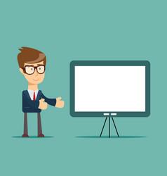 Business seminar flat style vector
