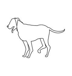 Cartoon dog walking pet animal outline vector