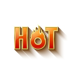 Glossy hot lettering vector image vector image