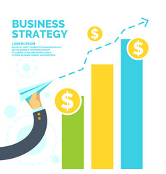 infographics and poster for business strategy vector image