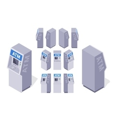 Isometric atms vector