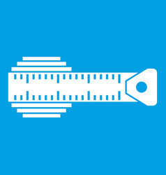measuring centimeter icon white vector image vector image