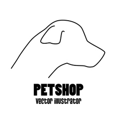pet shop concept silhouette dog vector image vector image