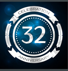 thirty two years anniversary celebration with vector image