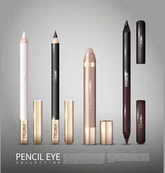 fashionable cosmetic products for eyes set vector image vector image
