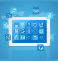 realistic mobile gadget concept app service vector image vector image