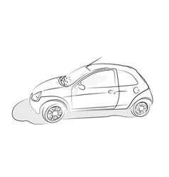 sketch of car on white background vector image vector image