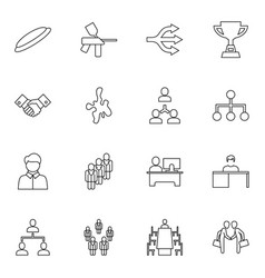16 team icons vector image