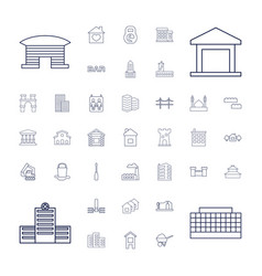 37 building icons vector