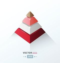 3D pyramid business Infographic love valentine sty vector