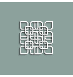 3d white pattern in arabic style vector