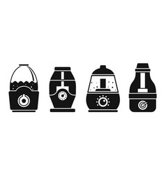 Air humidifier icon set simple style vector