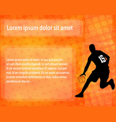 basketball player on the abstract background vector image