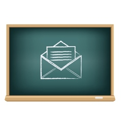 board post a letter vector image