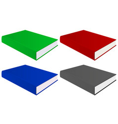 book colored set vector image