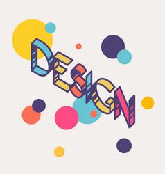 Bright inscription design linear contour letters vector