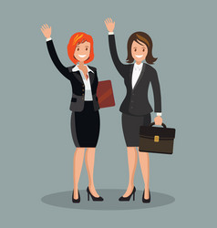 business women dressed in business suit with their vector image