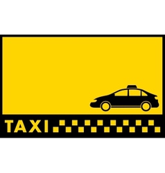 Cab yellow backdrop with taxi car vector
