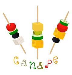Canapes vector