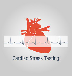 Cardiac stress testing logo icon design vector