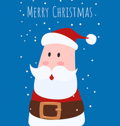 Christmas greeting card and cute santa clause vector