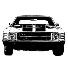 Classic 1970s muscle car vector