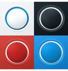 Colorful 3d buttons vector image vector image