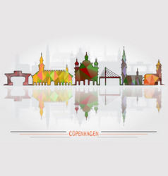 Copenhagen city background vector
