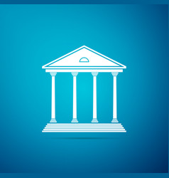courthouse building icon building bank or museum vector image