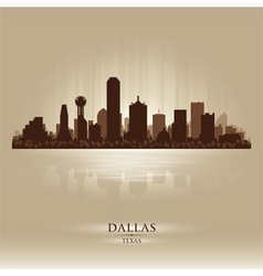 Dallas Texas skyline city silhouette vector image