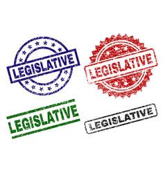 Damaged textured legislative stamp seals vector