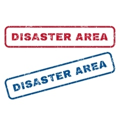 Disaster area rubber stamps vector