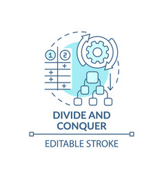 divide and conquer blue concept icon vector image