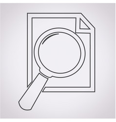document and magnifying glass icon vector image