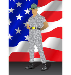drill instructor vector image