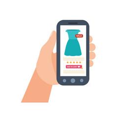 E-commerce purchasing mobile shopping service vector