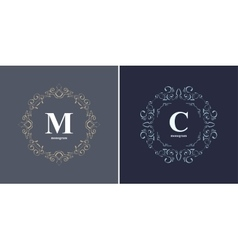 Elegant monogram design template vector