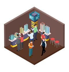 exhibition real estate apartments isometric vector image