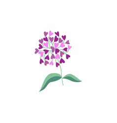 Flat abstract flower lilac icon vector