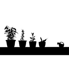 gardening contour vector image