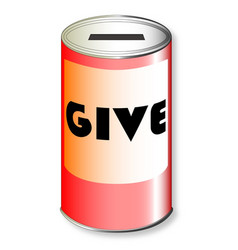 Give charity tin vector