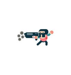 Gun owners target coronavirus cartoon vector