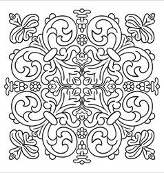 Hand drawing zentangle mandala element Italian vector